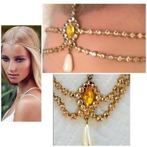 La Boheme VINTAGE Headpiece Yellow Hair Jewelry